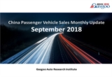 【September 2018】China Passenger Vehicle Sales Analysis