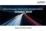 【October, 2018】China Passenger Vehicle Sales Analysis