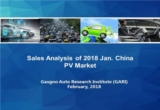 Sales Analysis of 2018 Jan. PV Market (including NEV)