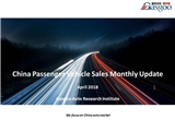 【April, 2018】China Passenger Vehicle Sales Analysis