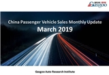 【March, 2019】China Passenger Vehicle Sales Analysis