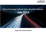 【July, 2019】China Passenger Vehicle Sales Analysis
