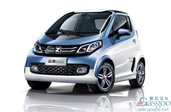 Zotye E200 pure electric vehicle,TBOX, permanent magnet synchronous motor